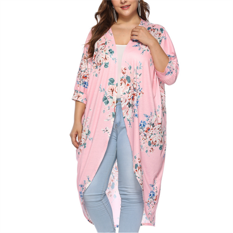 Fashion Large Size Loose Printed Cardigan