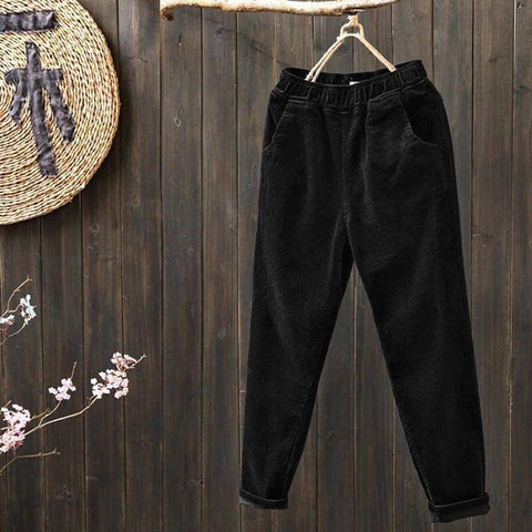Casual Corduroy Harem Pants Loose Strip Velvet Carrot Pants