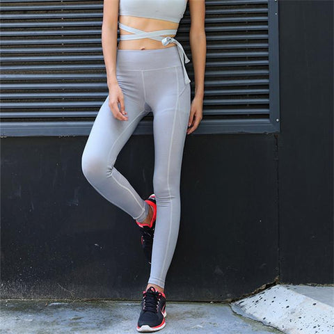 Tight Fitting Yoga Pure Color Fashionable Casual Sport Pant