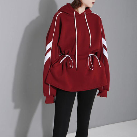 Fashion Long Sleeve Splicing Color Hoodies