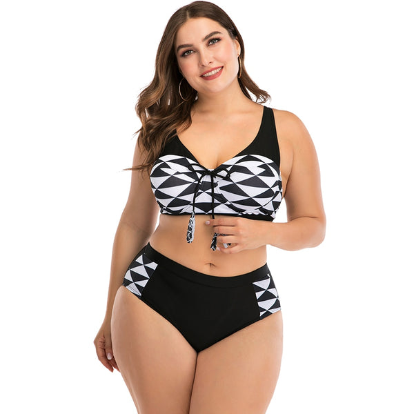 Sexy Plus Size Bikinis Women Swimsuit High Waist Swimwear Bikini Set Bathing Suit Large Size Beachwear