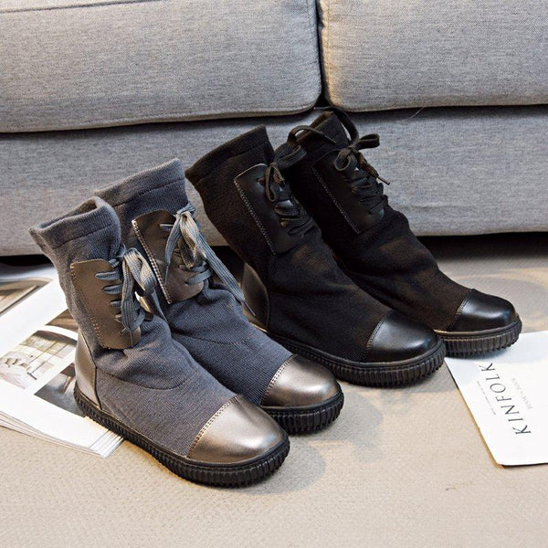 Spring/Fall Lace-up Boots
