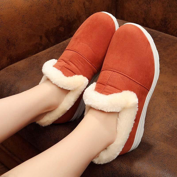 Womens Flat Heel Cotton Daily Snow Boots