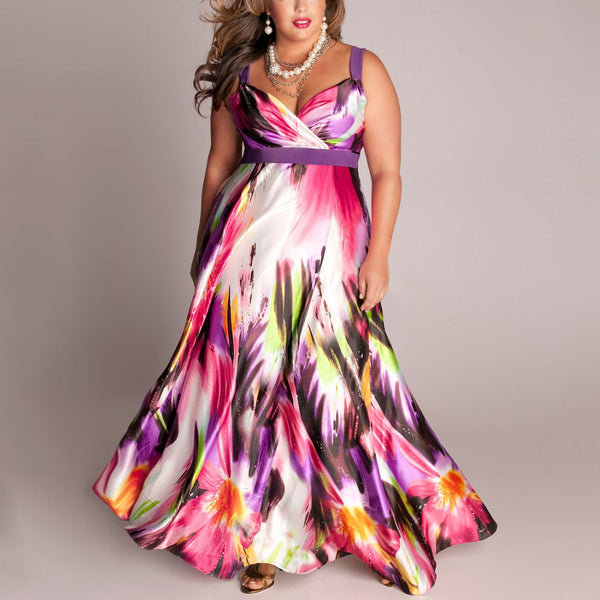 Colorful Printed Plus Size Dresses