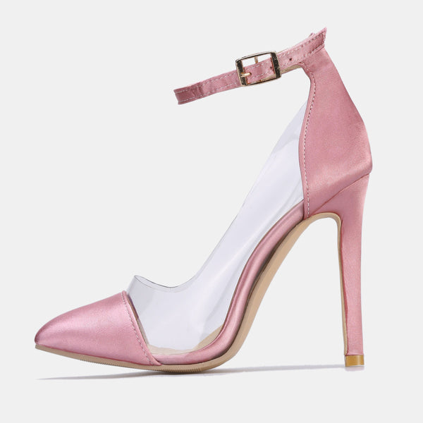 Buckle Stiletto Heel Pointed Toe Buckle Plain Banquet Thin Shoes