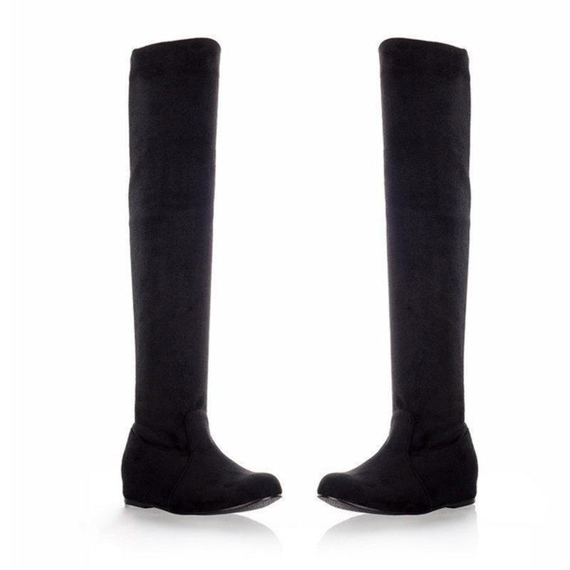 Womens Sexy Casual Artificial Suede Thigh Boots
