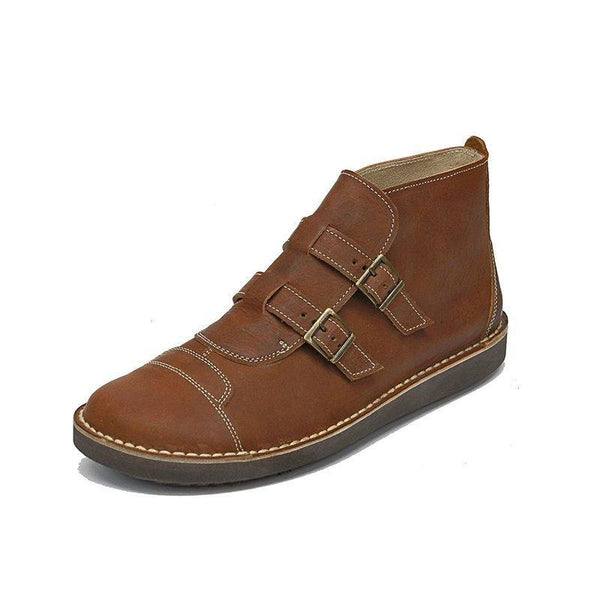 Brown Daily Buckle Booties