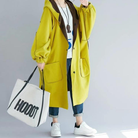 Plus Size Thicken Velvet Coat Hooded Jackets Loose Casual Woolen Coat