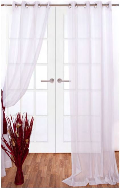 Clarity Off-white Grommet Sheer Panels