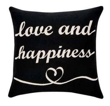 Deco ''love and happiness'' cushion