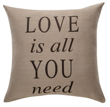 Deco ''Love is all you need'' cushion