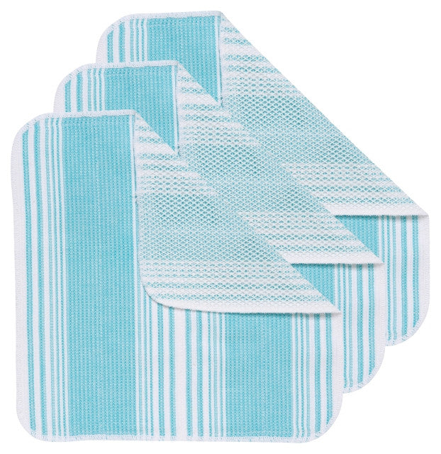 BALI BLUE SCRUB-IT DISHCLOTHS  SET OF 3