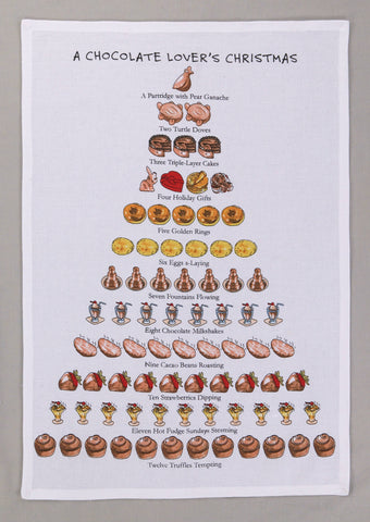 A Chocolate Lover's Christmas Kitchen Towel