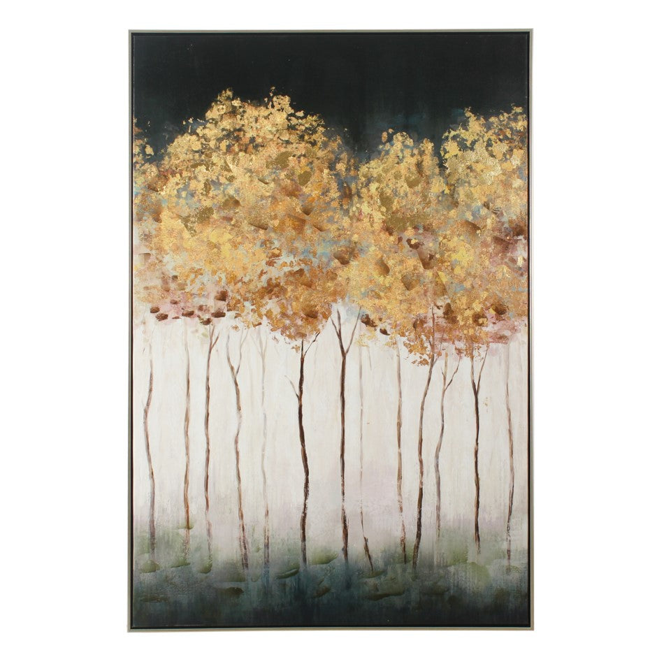 Golden Tree Hand Painted Canvas