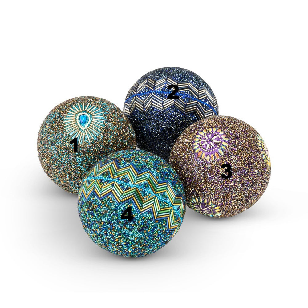 Ornate Beaded Balls