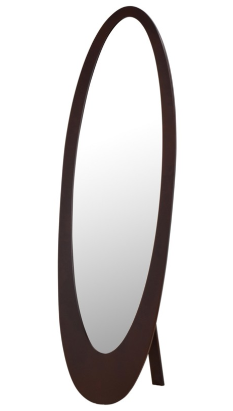 Infinity II Cheval Mirror in Cappuccino - Madison Mackenzie Home