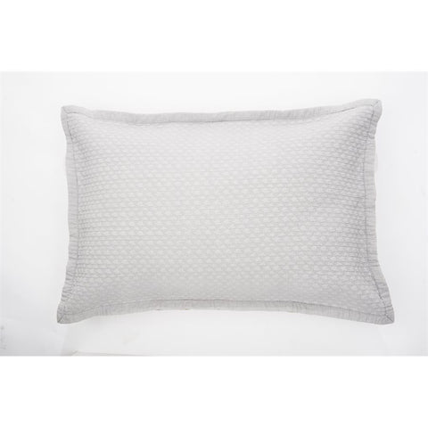 "Chanel grey queen sham 20"" x 30"""