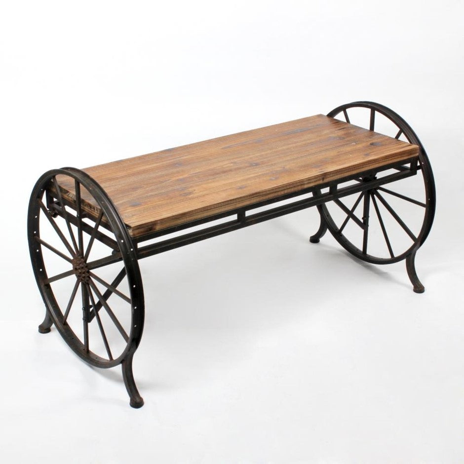 Cart Coffee Table with Wheels