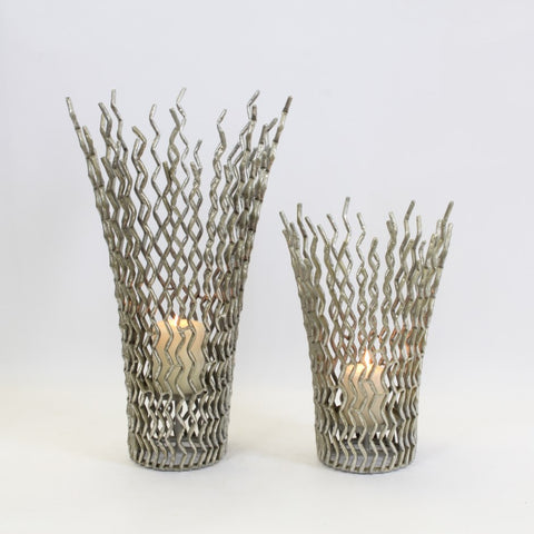Silver Stick Candle Holder