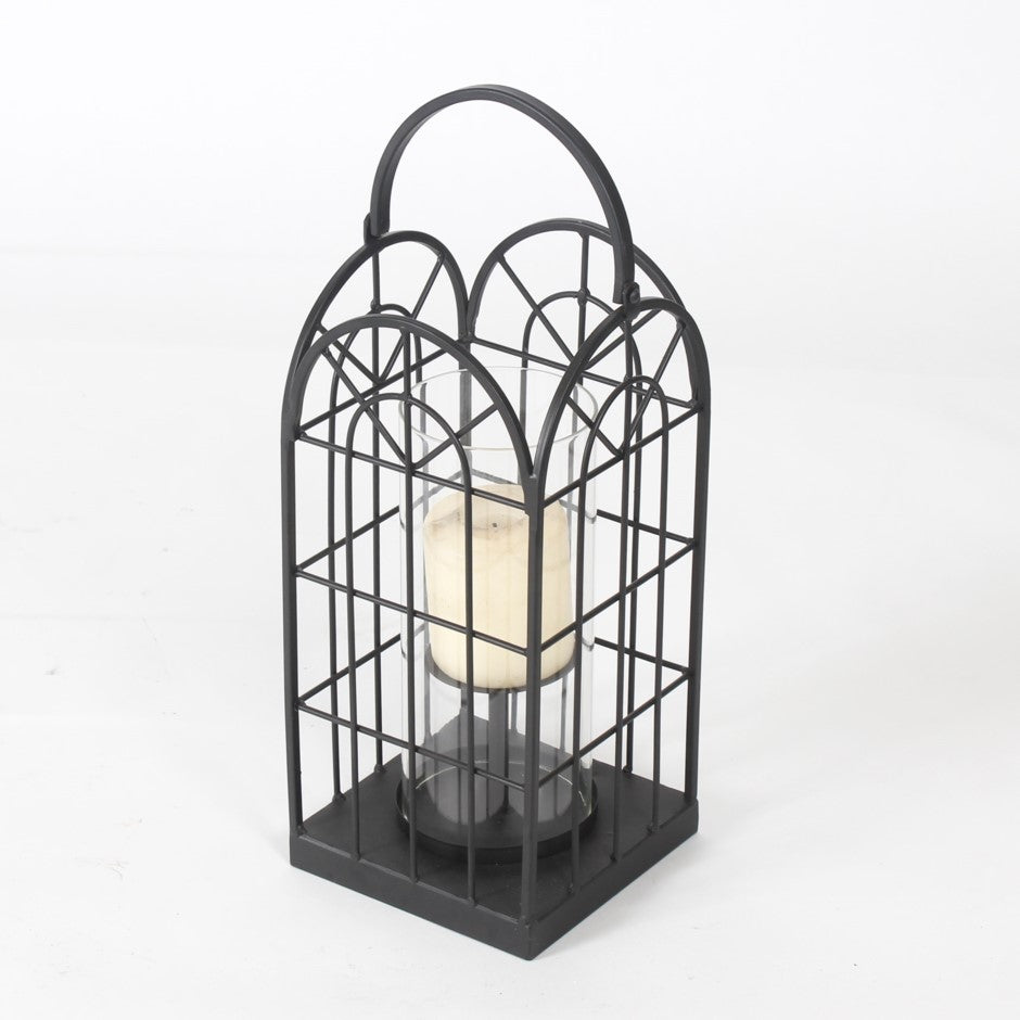 Black Candle Holder with Handle