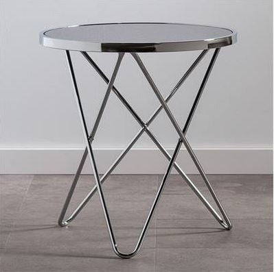 Apex Round Glass Top Side Table