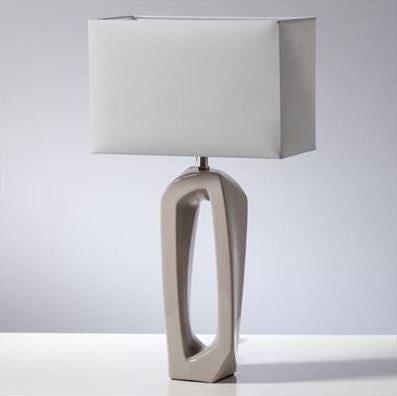 Abstract Outline Tall Lamp Grey