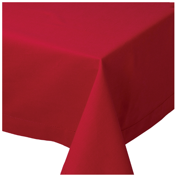 Chili Hemstitch Tablecloth | 60 x 90 inch