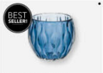 Adriana Candle Holder, Blue