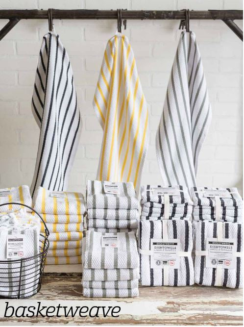 Basketweave Towels - Madison Mackenzie Home