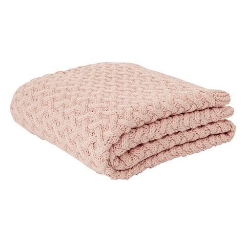 Beatrice pink throw 50 x 60