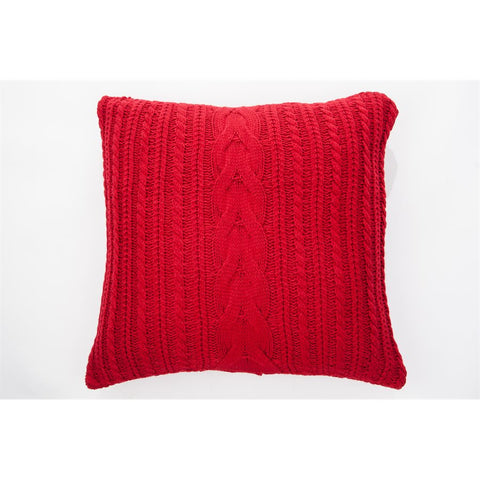 Candy Cushion Red 18x18