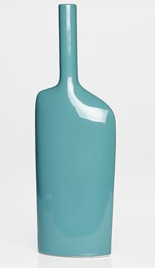 Alba Long Neck Tall Vase - Teal - Madison Mackenzie Home