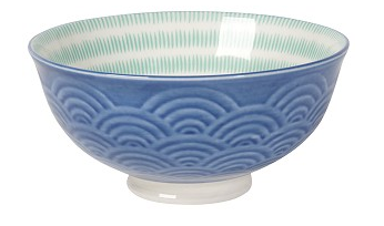 Embossed Bowl Blue Waves 5 inch - Madison Mackenzie Home