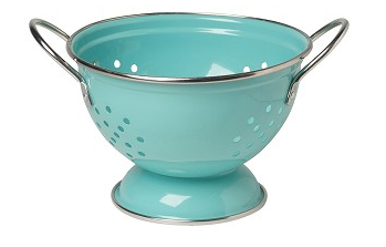 Turquoise 1 Qt Metal Colander - Madison Mackenzie Home