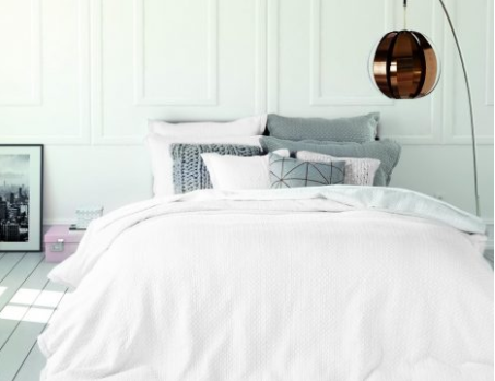 Chanel white quilted duvet cover