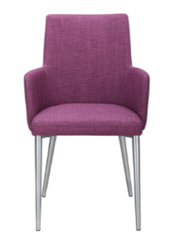 Flavia Arm Chair Purple - Madison Mackenzie Home