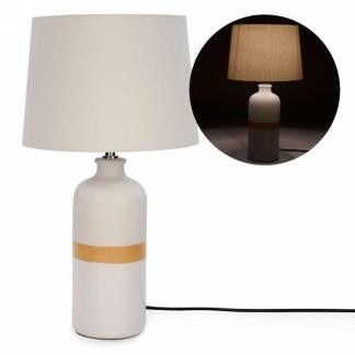 Yellow Stripe Lamp
