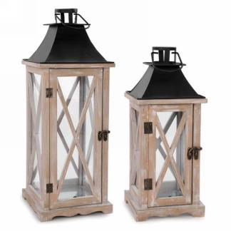 Black and Natural Lantern