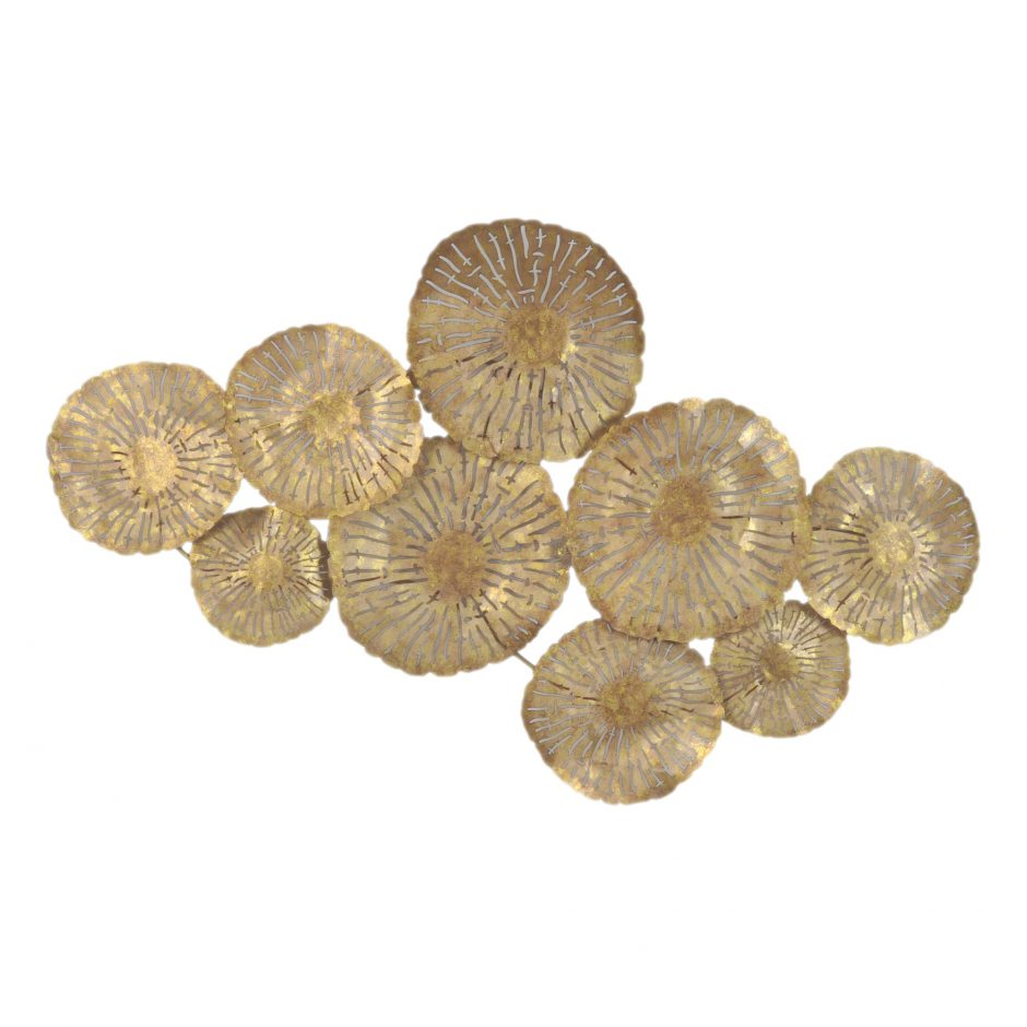 LARGE CIRCLES WALL DÉCOR GOLD