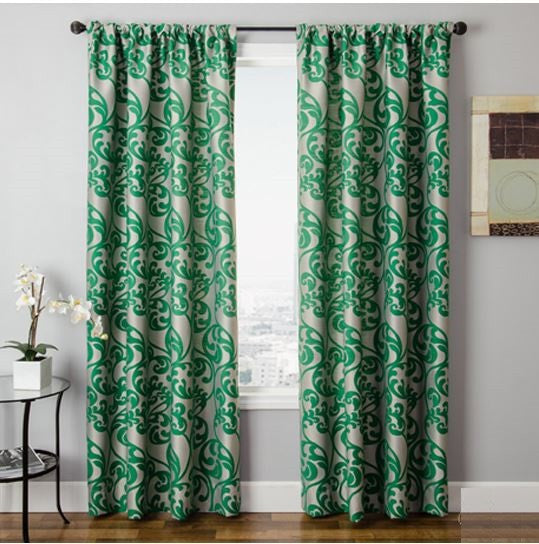 Mila Grommet Panels 108 Lined Green