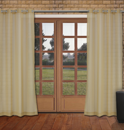 Mirage Grommet Panels - Ochre