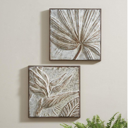 Palm Leaf and Birds Of Paradise Wall Art