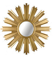 Antique Gold Star Wall Mirror - Madison Mackenzie Home