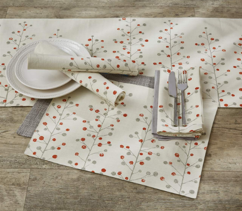 Berry Sprig Collection - Placemat and Runner