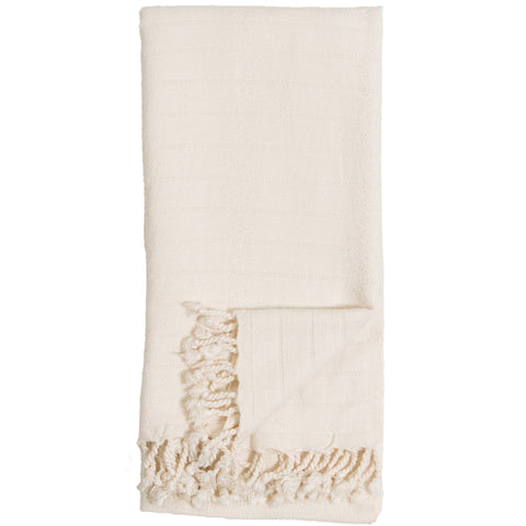 Body Towel - Bamboo Striped - Cream