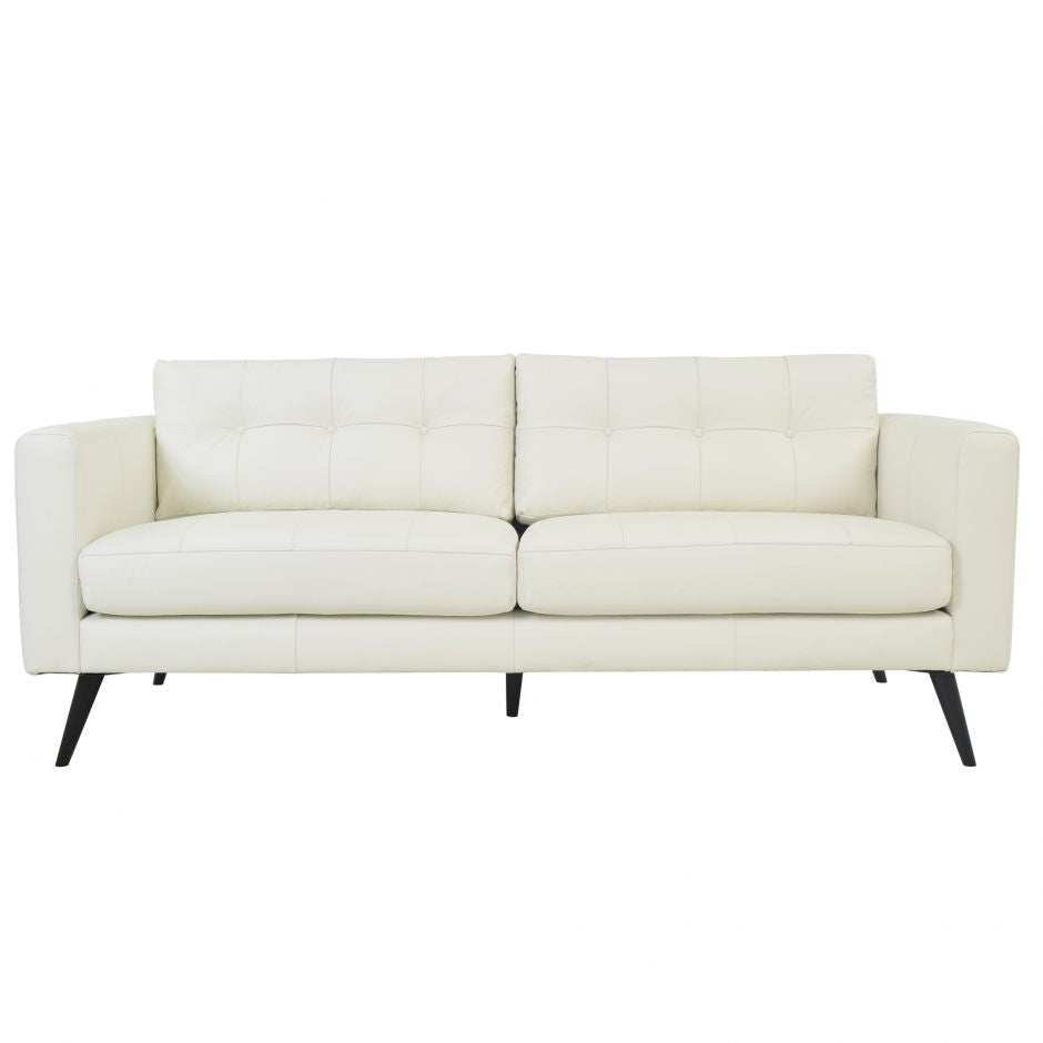Cortado Leather Sofa Pure White - Madison Mackenzie Home