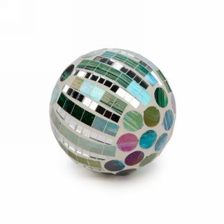 "3"" Mosaic Ball in Green"