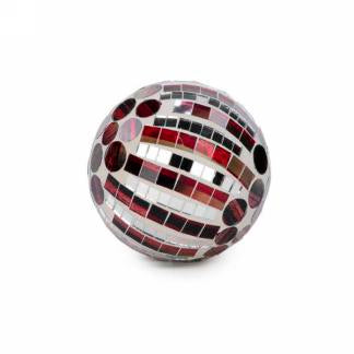 "3 ""Burgundy Mosaic Ball"