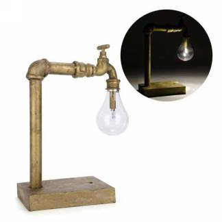 Gold metal faucet led lamp