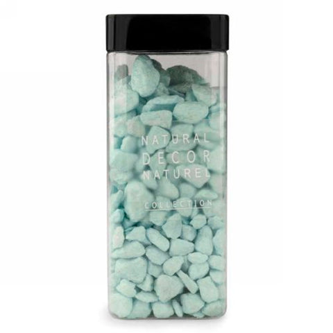 Aqua deco. stones in jar